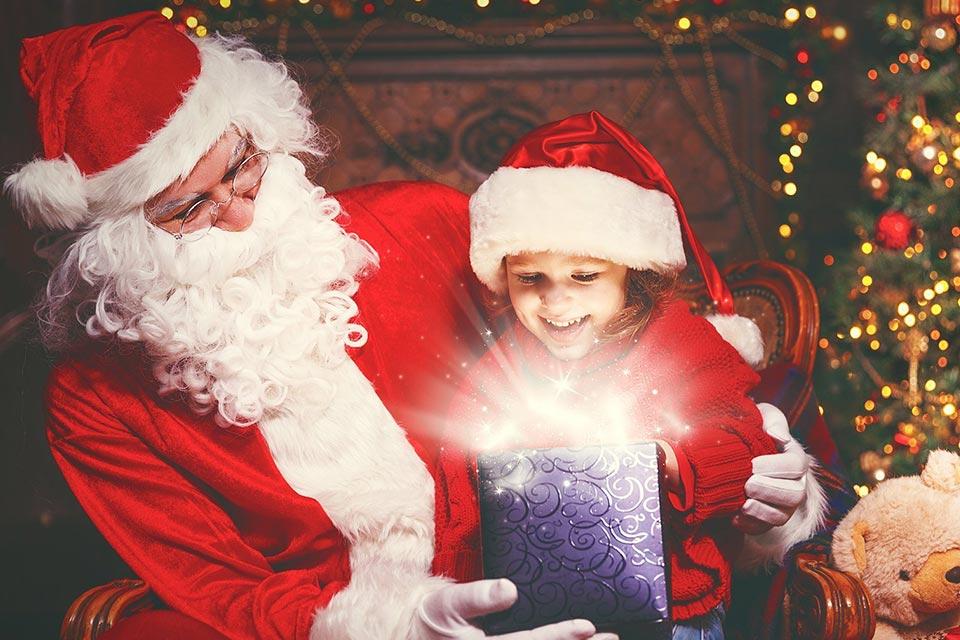 Apericena con Babbo Natale.