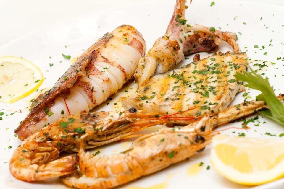 Ristorante di pesce ai Castelli Romani.