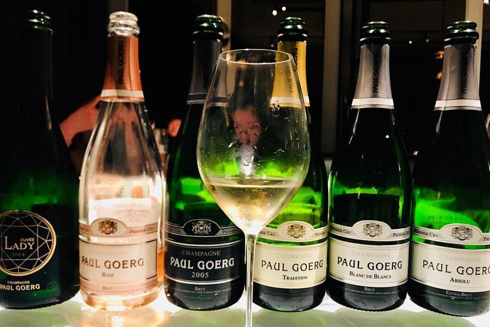 Paul Goerg e pesce crudo: l'aperitivo con lo champagne.
