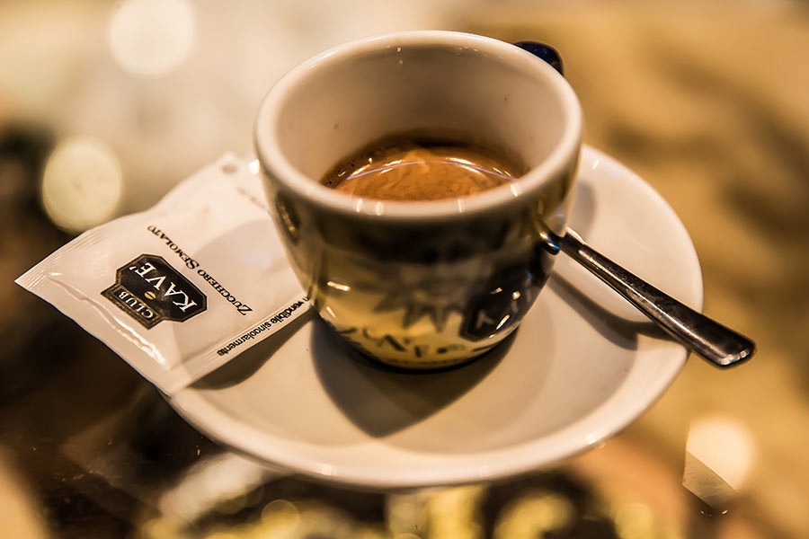 Caffè ai Castelli Romani.