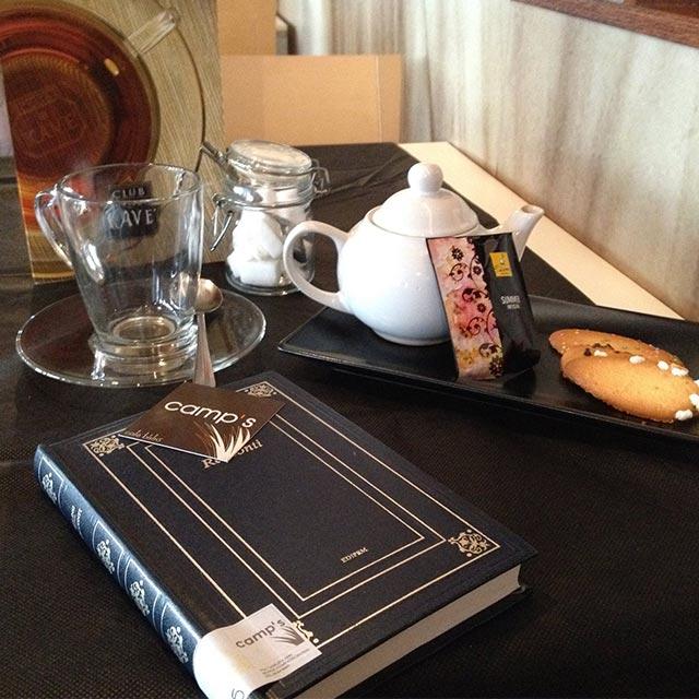 Sala da tè ai Castelli Romani.