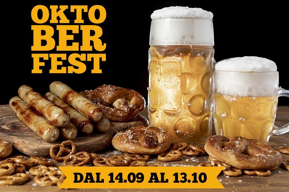 OKtoberfest: Un angolo di baviera dal 14 Settembre al 13 Ottobre 2019